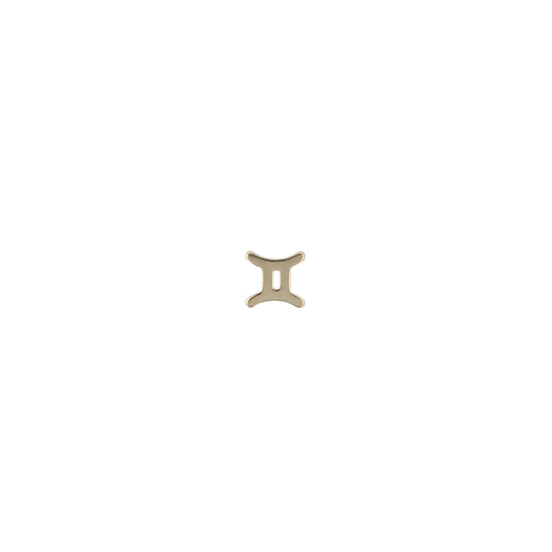Single Zodiac Earring Yellow Gold | Sarah & Sebastian