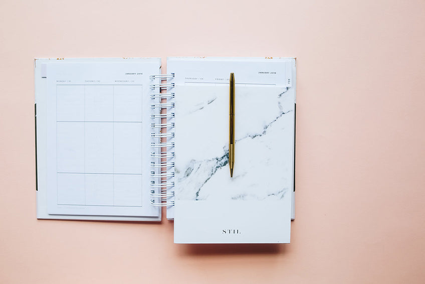 2018 planner / yearly agenda / undated monthly, daily and weekly day timer / 2018 organization calendar planner design