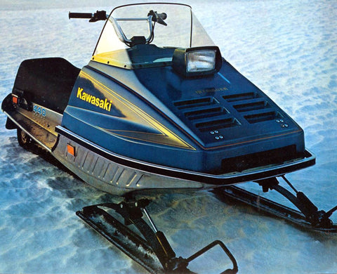 1977 KAWASAKI SNOWMOBILE REPAIR MANUAL