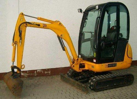JCB 8014 8016 8018 Mini Excavator Service Repair Workshop Manual INSTANT DOWNLOAD