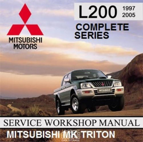 MITSUBISHI MK MJ TRITON 1997-2003 FACTORY WORKSHOP MANUAL