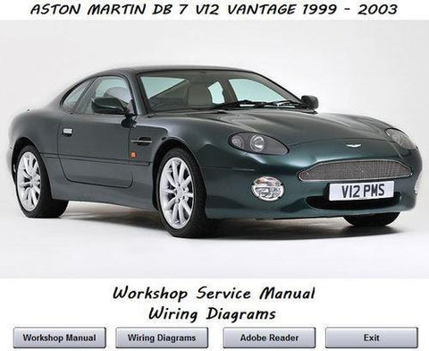 Aston Martin Db7 V12 Vantage 1999-2003 Service Repair Manual