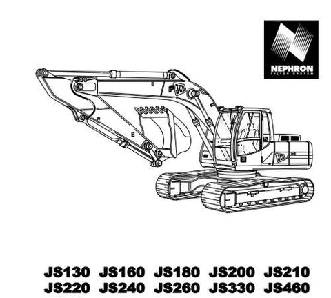 JCB JS130 TO JS460 OPERATOR'S MANUAL