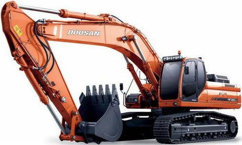 DAEWOO DOOSAN DX420LC EXCAVATOR SERVICE SHOP REPAIR MANUAL