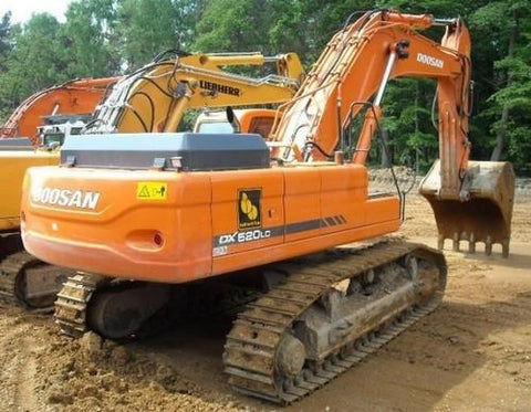 DAEWOO DOOSAN DX480LC, DX520LC EXCAVATOR SERVICE SHOP REPAIR MANUAL
