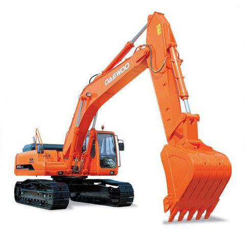 DAEWOO / DOOSAN SOLAR 340LC-V CRAWLER EXCAVATOR OPERATION & MAINTENANCE MANUAL