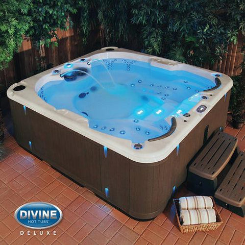 Divine Hot Tubs™ Deluxe Dual Massage 100-Jet, 4-Person Spa