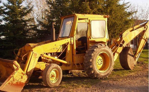 Ford Models 550 555 Backhoe Loader Tractor Service Repair Manual