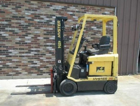 Hyster E25XM, E30XM, E35XM, E40XMS Forklift Workshop Service Repair Manual