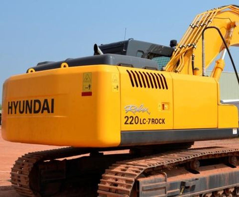 Hyundai R210LC-7H , R220LC-7H Crawler Excavator Service Repair Workshop Manual DOWNLOAD
