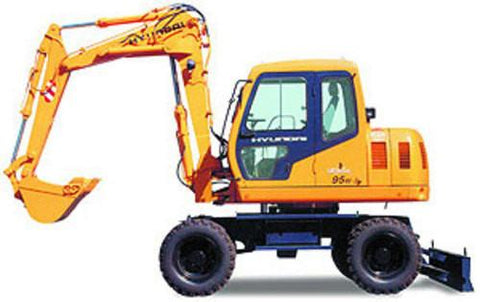 Hyundai R95W-3 Wheel Excavator Service Repair Workshop Manual DOWNLOAD