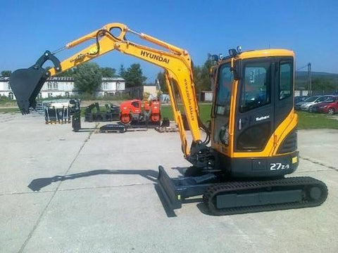 Hyundai Robex 27Z-9 R27Z-9 Mini Excavator Service Repair Workshop Manual DOWNLOAD