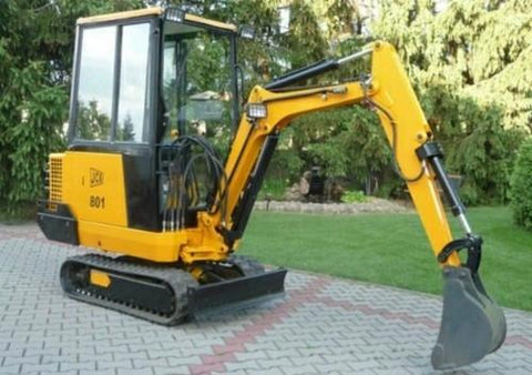 JCB 801 Mini Excavator Service Repair Workshop Manual INSTANT DOWNLOAD(SN:645001 to 645999)