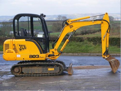 JCB 802.7PLUS 802.7SUPER 803PLUS 803SUPER 804PLUS 804SUPER Mini Excavator Service Repair Workshop Manual INSTANT DOWNLOAD