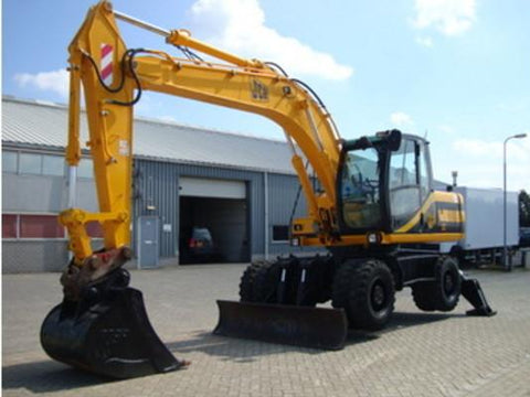 JCB JS130W JS145W JS160W JS175W Wheeled Excavator Service Repair Workshop Manual INSTANT DOWNLOAD