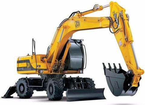 JCB JS130W JS150W Wheeled Excavator Service Repair Workshop Manual DOWNLOAD