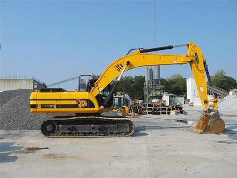 JCB JS330 Auto Tier II and Tier III Tracked Excavator Service Repair Manual INSTANT DOWNLOAD