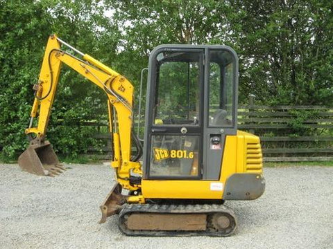 Jcb 801.4 801.5 801.6 Mini Excavator Service Repair Workshop Manual
