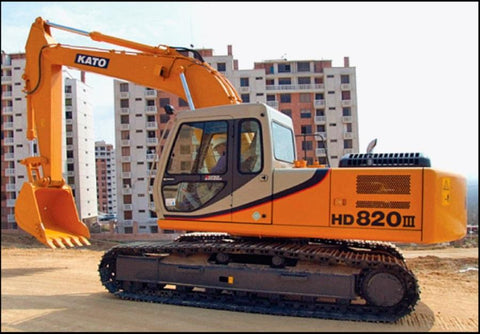 KATO HD820III Excavator Workshop Service Repair Manual PDF