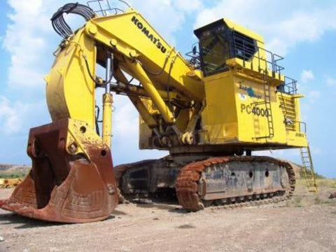 Komatsu PC4000-6 Hydraulic Mining Shovel Service Repair Workshop Manual DOWNLOAD (SN: 8152)