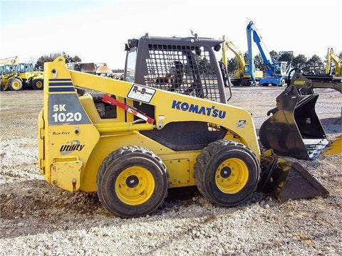 Komatsu SK1020-5 Turbo Skid-Steer Loader Operation & Maintenance Manual DOWNLOAD (SN:37CTF00432 and up)