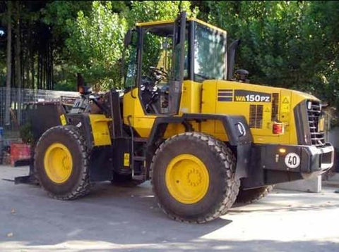 Komatsu WA150PZ-5 Wheel Loader Operation & Maintenance Manual Download (SN H50051 and up)