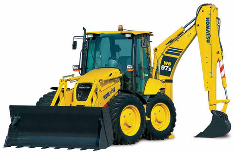 Komatsu WB97S-5 Backhoe-Loader Service Repair Workshop Manual Download (SN: F00003 and up)