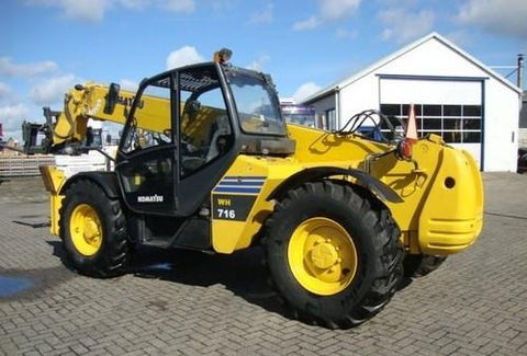 Komatsu WH609-1, WH613-1, WH713-1, WH714-1, WH714H-1, WH716-1 Telescopic Handler Operation & Maintenance Manual Download