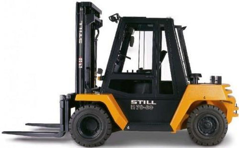Still Diesel Forklift Truck R70-60, R70-70, R70-80 Series Service Repair Workshop Manual DOWNLOAD