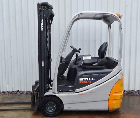 Still Electric Fork Truck Forklift RX20-15, RX20-16, RX20-18, RX20-20 Series Service Repair Workshop Manual DOWNLOAD