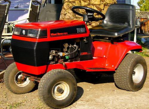 TORO WHEEL HORSE 212H RIDE ON MOWER SERVICE REPAIR MANUAL