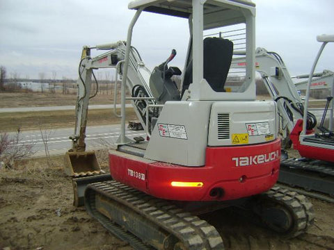 Takeuchi TB138FR Compact Excavator Parts Manual DOWNLOAD (SN: 13820001 and up)