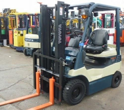 Toyota 5fbcu25 Forklift Service Manual