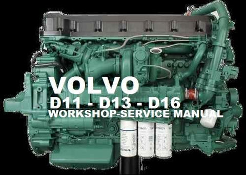 Volvo Marine / Truck Engine D11 Service Repair Manual