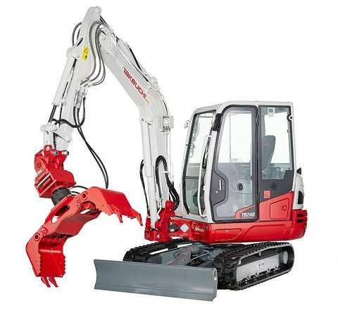 takeuchi tb240 compact excavator workshop service repair. Black Bedroom Furniture Sets. Home Design Ideas