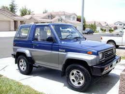 1991 DAIHATSU ROCKY WITH SERVICE REPAIR MANUAL