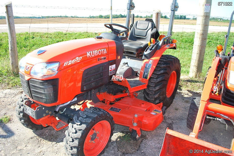 Kubota B2630 Tractor Operating Manual Download