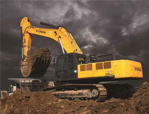 Hyundai R510 LC-7 Crawler Excavator Workshop Service Repair Manual