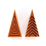 MKM Large Triangle Stamp 3cm x 6cm Geometric