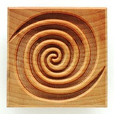 MKM Large Square Stamp 6cm Double Spiral