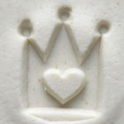 MKM Round Stamp 2.5cm Crown Heart
