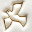 MKM Small Round Stamp 1.5cm Dove