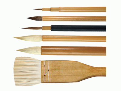 Brush Set Traditional 6 Piece with Hake