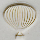 MKM Round Stamp 2.5cm Hot Air Balloon