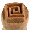 MKM Small Round Stamp 1.5cm Square Spiral