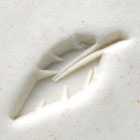 MKM Round Stamp 2.5cm Feather