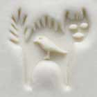 MKM Round Stamp 2.5cm Cat and Bird