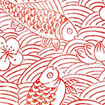 Tissue Transfer Mini Fish & Flower - Red