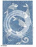 Tissue Transfer Mini Fish Spiral - Blue
