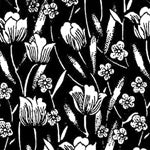 Tissue Transfer Mini Swaying Tulips Black